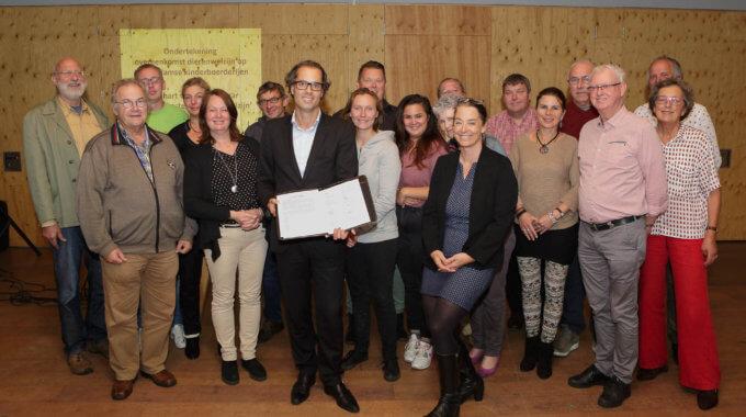 14 09 2017 Ondertekening Overeenkomst Kinderboerderijen